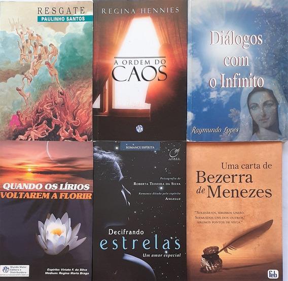 6 Livros Espiritualistas -uma Carta De Bezerra De Menezes +5