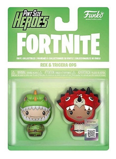 Figura Pint Size Heroes Fortnite Rex And Tricera Ops