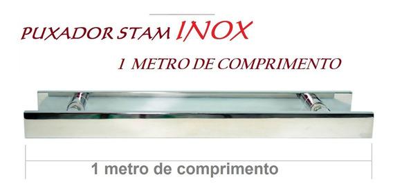 Puxador De 1 Metro Em Inox 304 Stan Portas Com Até 6cm