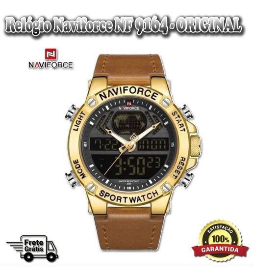 Relógio Masculino De Luxo Naviforce Masculino 9164 Original