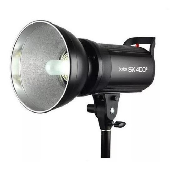 Flash Para Estúdio Fotográfico Godox Sk400ii G Tocha