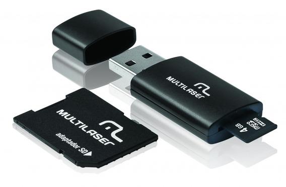 Cartão De Memória 4gb Microsd Card C/ Adaptador Sd Leitor Us