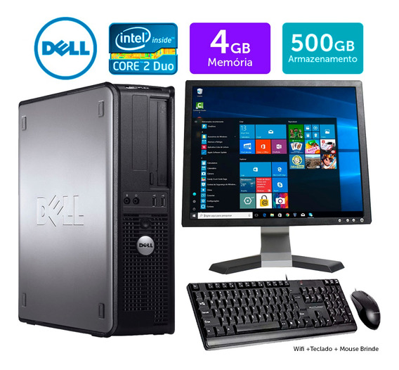 Computador Barato Dell Optiplex Int C2duo 4gb Ddr3 500gb 17q
