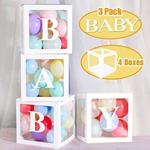 Decoraciones De Baby Shower Diy Caja Transparente Globo De L