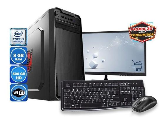 Computador Pc Completo Intel I5 8gb Hd 500gb Wifi