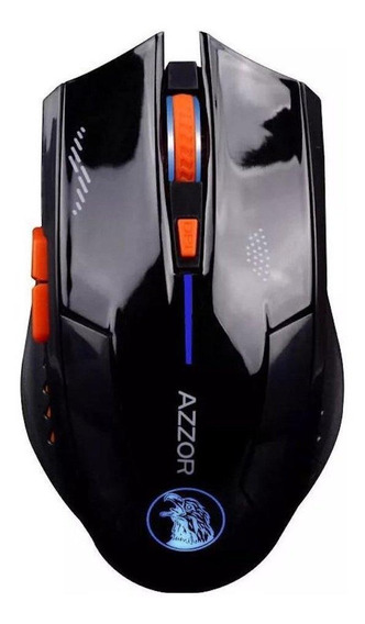 Mouse para jogo sem fio Azzor Wireless preto