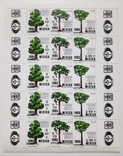 Imagen 1 de 1 de Congreso Forestal Mundial Planilla 25 Timbres Nuevos México