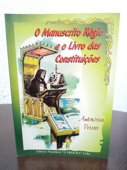 Livro Maçonaria Manuscrito Régio