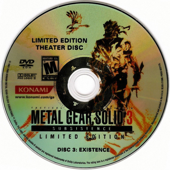Metal Gear Solid 3 Subsistence Disc 3 Existence Ps2 Patch