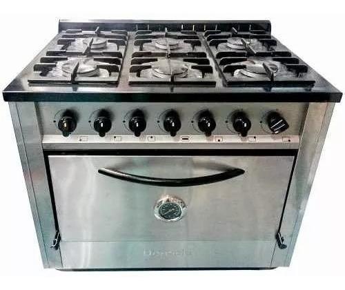 Cocina Industrial Depaolo 6 Hornallas 90 Cm H. Pizzero Cuota
