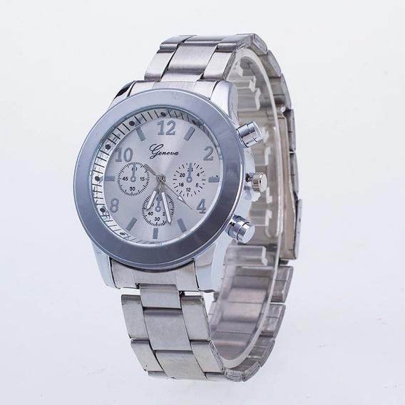 Relógio Feminino Dourado Prata Rose Barato No Mercado Livre