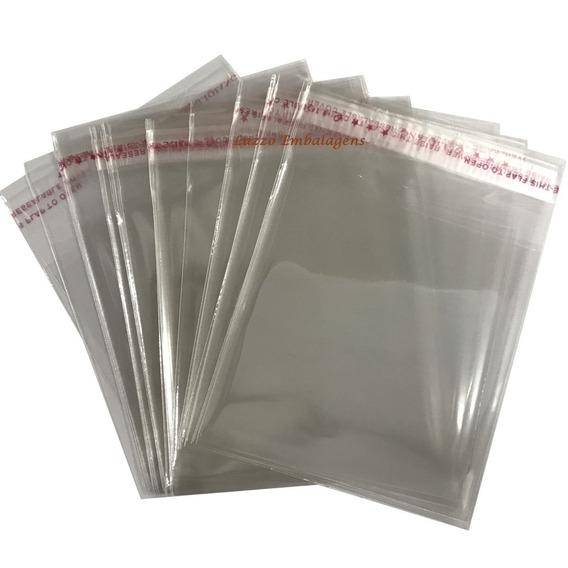 Saco Plastico Bopp Adesivado 4x7 Cm + Aba. 4.000pçs atacado
