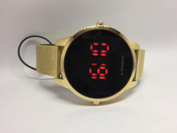 Relógio Masculino Lince Digital Led Mdg4586l Pxkx Dourado