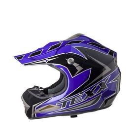 Capacete Texx Speed Mud Azul Metalico Rs1