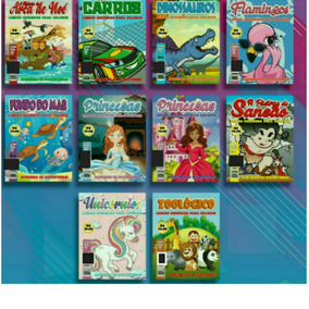 250 Revistas De Colorir Infantil, Educativo.