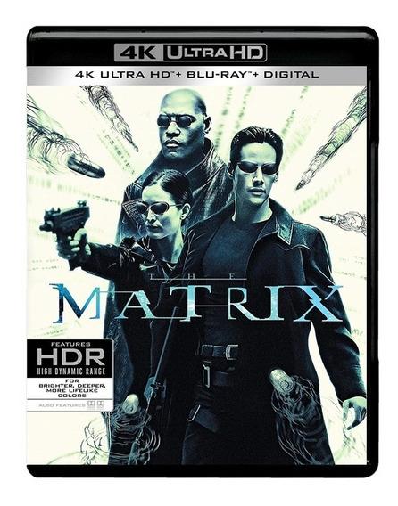 Matrix Keanu Reeves Pelicula 4k Ultra Hd + Blu-ray + Dig