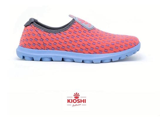 Zapatillas Kioshi Yumi Kioknit Coral Celeste