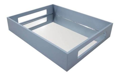 Bandeja Retangular 30,5x24,5 C/espelho Mdf Laca Premium Az