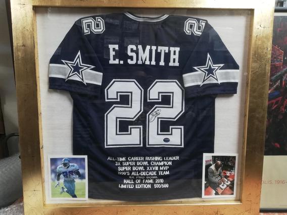 Jersey Autografiado Dallas Cowboys Emith Smith Marco De Lux