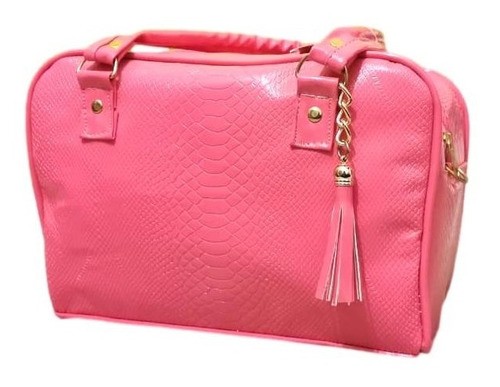 Imagen 1 de 2 de Bolso Victoria Rosa Pop Grande Premium