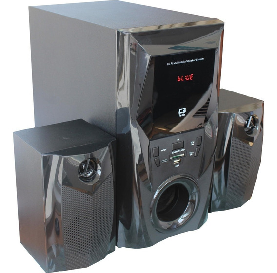 Caixa De Som 2.1 Subwoofer Bluetooth E Rádio C3 Tech Sp-365b