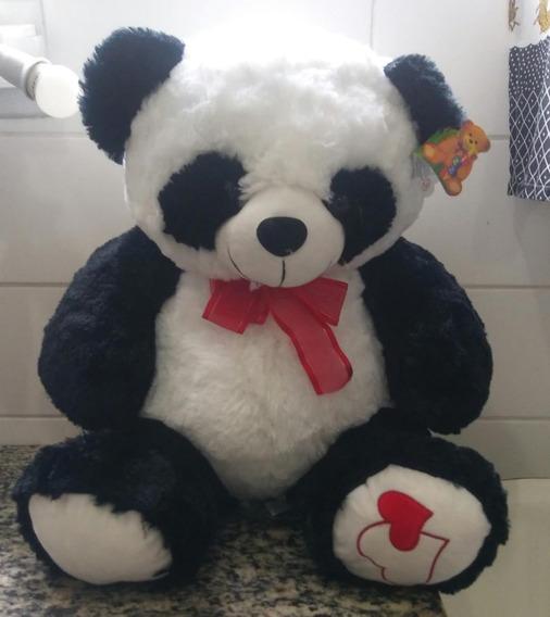 Urso Panda Lindo De Pelúcia Canta 60cm P/entrega