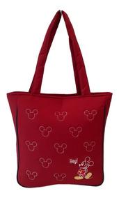 Bolsa Feminina Totebag Mickey Minnie Disney Lateral Ombro