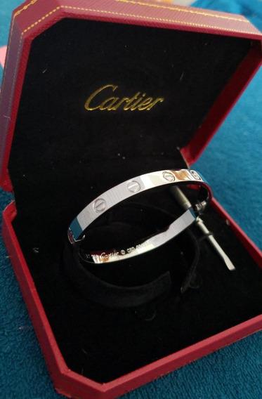 Pulseira Bracelete Cartier Love Titânio 6cm De Diâmetro