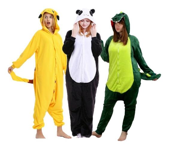 Promoção! Kigurumi Panda Pikachu Dinossauro Pijama Fantasia