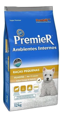 Ração PremieR Super Premium Ambientes Internos para cachorro filhote da raça pequena sabor frango/salmão em saco de 12kg