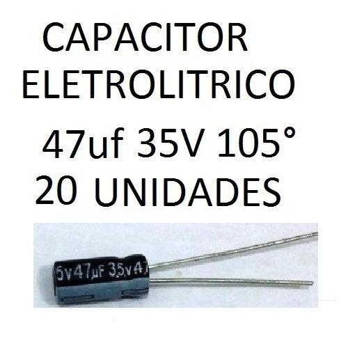 Capacitor Eletrolitrico 47uf 35v 105º 5x11 Mm 20 Unidades
