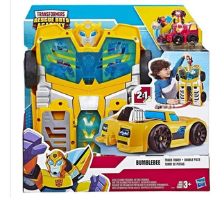 Transformers Bumbulbee Torre Pista Rescue Bots