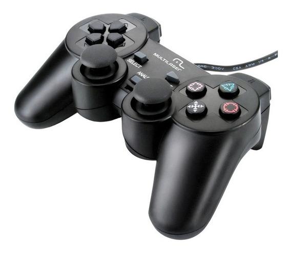 Controle Dualshock Multilaser Js071 Ergonômico Ps3/ps2/pc