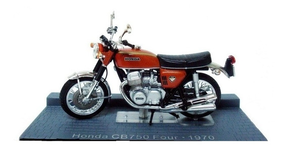 Honda Cb 750 Four - Ano 1970 - Moto 1:24 Na Cx Lacrada !!
