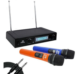 Sistema De 2 Micrófonos Inalámbricos Vhf Ms-miccolor