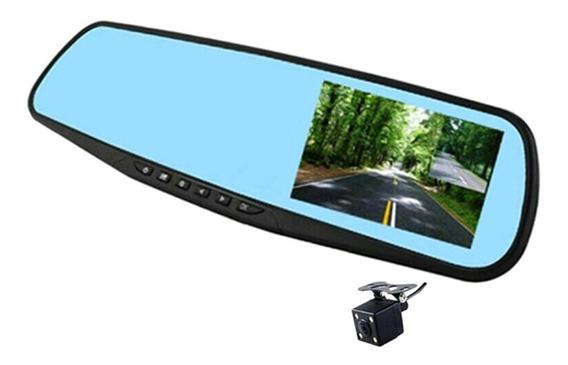 Gravador De Condução 4.3 Polegada Espelho Retrovisor Dual Ca