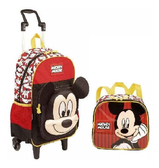 Kit Mochilete + Lancheira Mickey Mouse 65304 G - Original