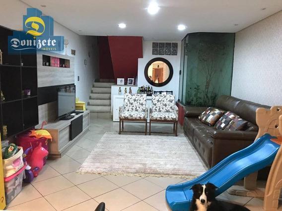 Sobrado Com 3 Dormitórios À Venda, 180 M² Por R$ 459.000,00 - Vila Scarpelli - Santo André/sp - So2067