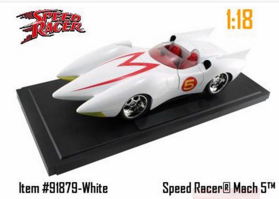 Mach 5 Miniatura 1:18 Jada Die Cast Speed Racer Carro 2008