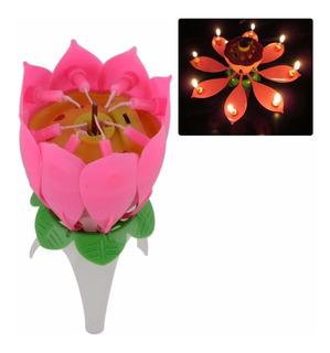 Vela Cumpleaños- Fiesta - Regalo Flor Giratoria