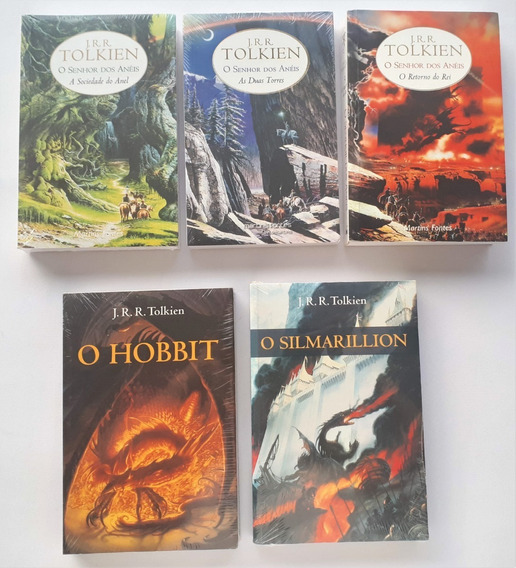Livro Senhor Dos Anéis Hobbit Silmarillion Maioria Lacrados