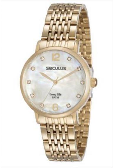 Relógio Seculus Feminino 28814lpsvda1 Dourado = 28