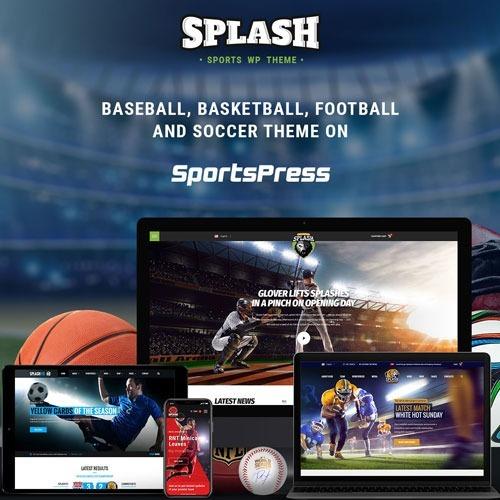 Splash Sport Wp Sports Tema For Basketball, Football, Soccer