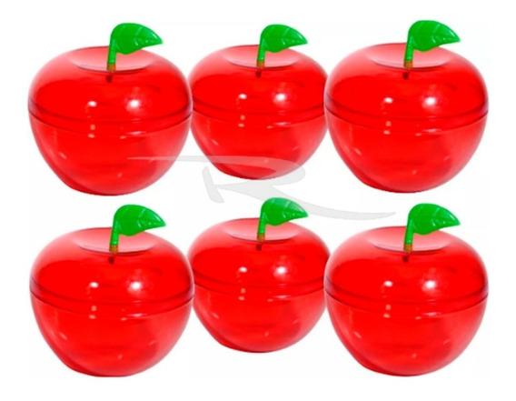 50 Mini Maçãs Acrílicas Vermelha