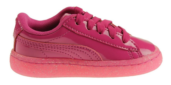 Tenis Puma Bebe Niña Basket Iced Baby Moda Classic Glitter