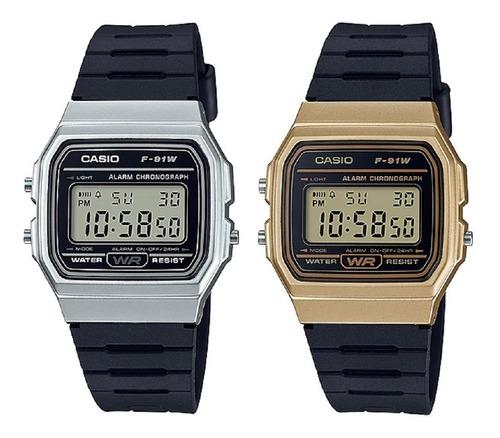 Reloj Casio F-91wm Unisex Clásico Garantía Original Envio Ya