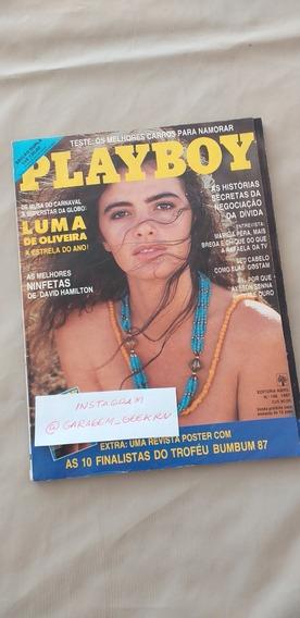 Playboy Luma De Oliveira 1987 Excelente Conservação