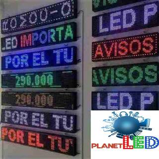 Letreros Led Programables. Rotulos Led A Medida Multicolor