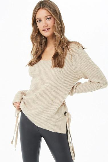 Sweater Mujer Forever 21 Ivory Rose Mercado Importado