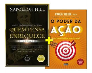 Kit 2 Livros O Poder Da Ação + Quem Pensa Enriquece O Legado